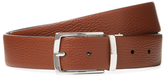 a. testoni Box Karibu Calf Leather Reversible Belt