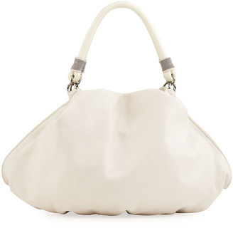 Brunello Cucinelli Soft Deconstructed Leather Hobo Bag