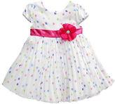 Sweet Heart Rose Sweetheart Rose Baby Girls Polka-Dot Pleated Dress