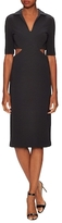 Nicole Miller Structured Cut-Out Sheath Dress