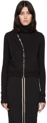 Rick Owens Black Mountain Asymmetric Zip-Up Sweater