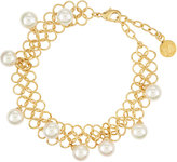 Majorica 8mm Pearl Chain Link Bracelet, White