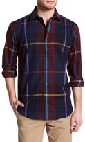 Bugatchi Woven Long Sleeve Shaped Fit Shirt