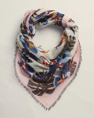 Valentino Mosaic Floral Woven Scarf