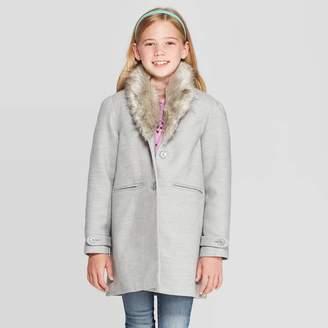 Cat & Jack Girls' Faux Fur Collar Jacket