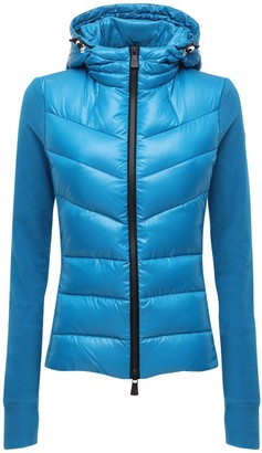 MONCLER GRENOBLE Stretch Techno & Nylon Down Jacket