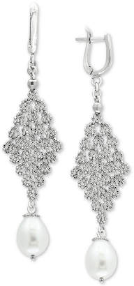 Effy Cultured Freshwater Pearl (8-1/2mm) Chandelier Drop Earrings in Sterling Silver