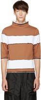 Telfar Brown Striped T-Shirt