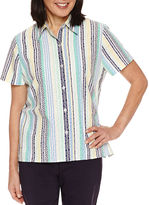 Alfred Dunner Short Sleeve Button-Front Shirt