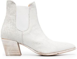 Moma Snakeskin-Effect Ankle Boots