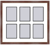 Frames By Mail Mahogany Collage Picture Frame - 6 openings for 4X6 photos