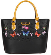 Nicole Lee Women's Visola Butterfly Embroidered Shopper Bag