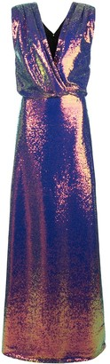 Monique Lhuillier Iridescent Sequin Dress