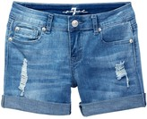 7 For All Mankind Roll Cuff Short (Big Girls)