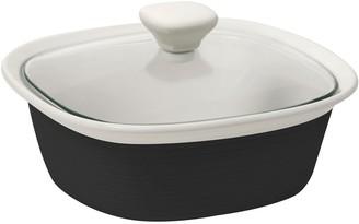 Corningware Etch Casserole with Lid 1.4L Rustic Black