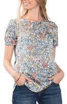 Esprit Women's 076EO1F005 Blouse, Multicoloured (OFF WHITE)