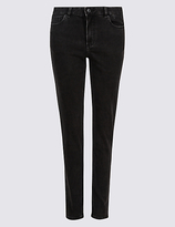M&S Collection Turn Up Mid Rise Slim Leg Jeans