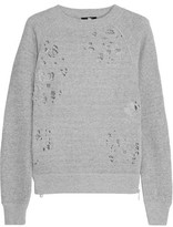 R 13 Distressed Cotton Sweater