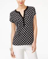 INC International Concepts Split-Neck T-Shirt, Created for Macy's