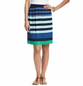 LOFT Mixed Stripe Jersey Skirt