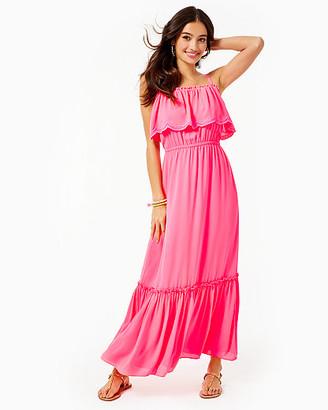 Lilly Pulitzer Aida Ruffle Maxi Dress