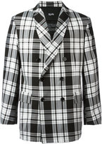 Blood Brother - check jacket - men - Polyester/Viscose - M