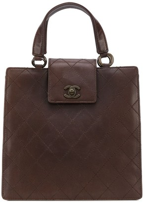 Chanel Pre Owned 1990s Diamond Quilted Tote