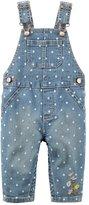 Carter's Baby Girl Polka-Dot Denim Overalls