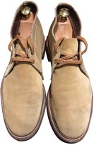 Alden Beige Leather Boots