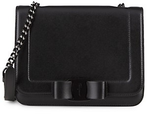 Salvatore Ferragamo Leather Chain Strap Shoulder Bag