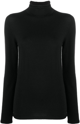 Zanone Mock-Neck Knitted Top