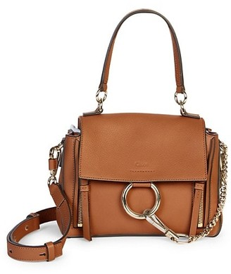 Chloé Mini Faye Leather Satchel
