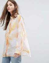 Weekday Printed Chiffon Shirt