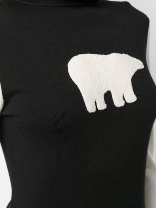 Perfect Moment Polar Bear Turtleneck Jumper