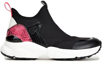 MICHAEL Michael Kors Willow Leather-trimmed Neoprene Slip-on Sneakers