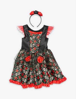 Dress Up Rose floral-print Day of the Dead dressing-up costume 7-8 years