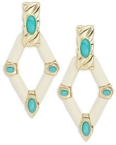 House Of Harlow Stone Accented Geometric Drop Earrings