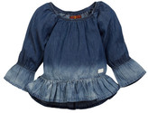 7 For All Mankind Ombre Peasant Blouse (Little Girls)
