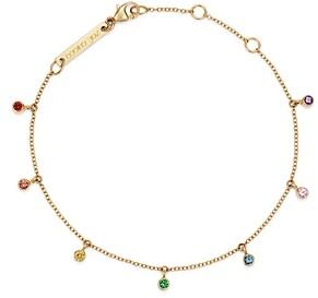 Zoë Chicco 14K Yellow Gold Rainbow Sapphire Adjustable Dangle Bracelet