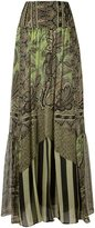 Etro multiprint pleated skirt