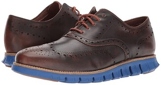 Cole Haan ZeroGrand Wing Ox Leather (Woodbury/Limoges Blue) Men's Shoes