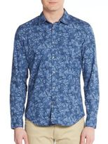 Calvin Klein Jeans Regular-Fit Bijou Floral-Print Sportshirt