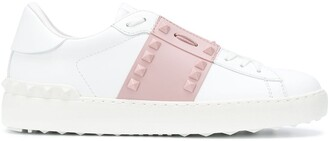 Valentino Rockstud open leather sneakers