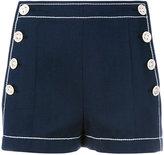 Agnona side button shorts - women - Cotton - 40
