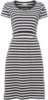 Barbour Brae stripe scoop neck dress
