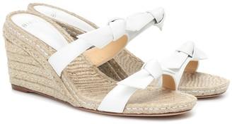 Alexandre Birman Clarita leather wedge espadrille sandals