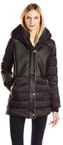 Sam Edelman Women's Brooklyn Down Coat with Faux Shearling Lining and Hood