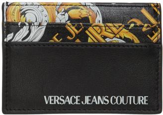 Versace Black Barocco Card Holder