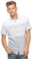 Rock & Republic Men's Striped Twill Button-Down Shirt