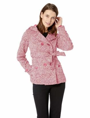 Yoki Women's Double Breast Fleece Jacket Outerwear